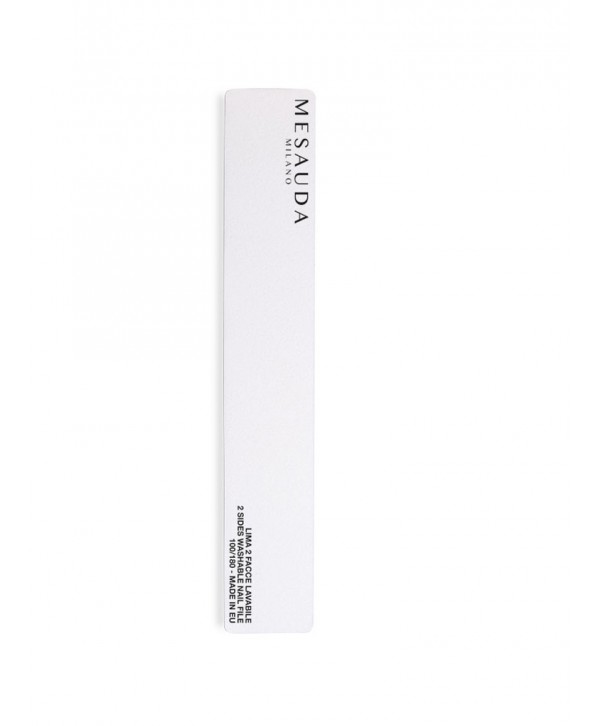 Nail file rectangular white
