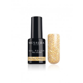 Lac de unghii semipermanent mini - Nail Colour - Glitter Oro